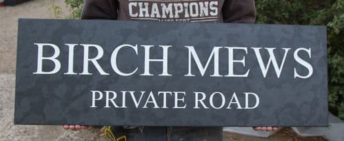 Made to Measure Slate Signs & Memorials 20mm thick| The Sign Maker Shop